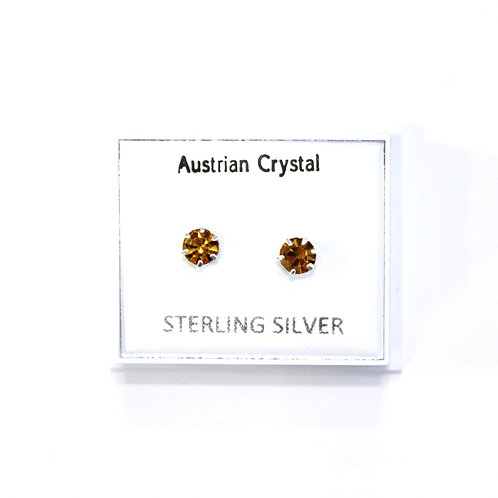 Crystal Studs - Amber
