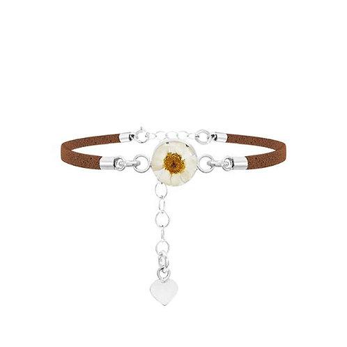 Brown Daisy Round Bracelet