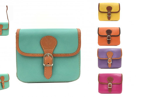 BOHO Small Leather Handbag