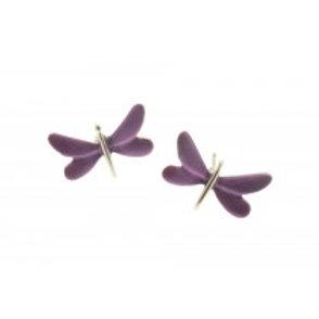 Miss Milly Dragonfly Earrings - Purple