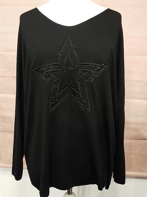 Embossed star jumper