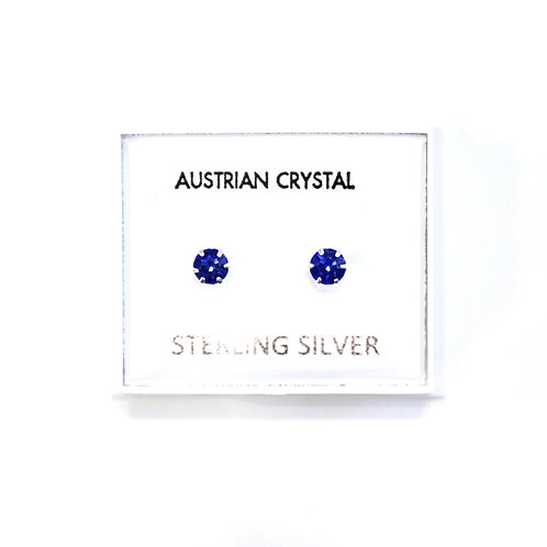 Crystal Studs - Bright Blue (Small)
