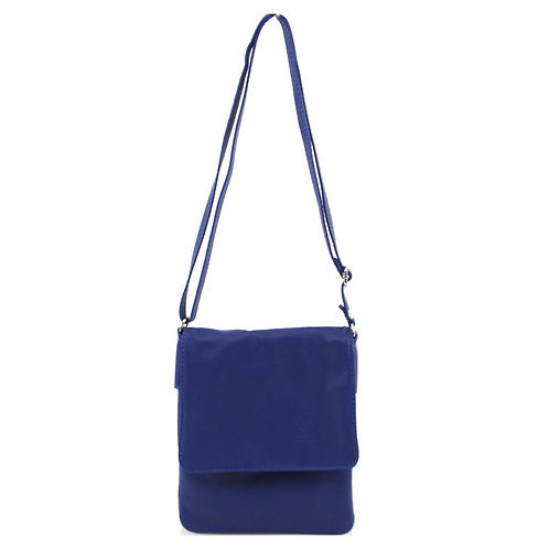 Italian Leather Handbag - Blue