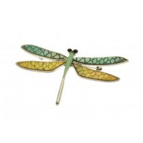 Miss Milly Dragonfly Brooch - Green