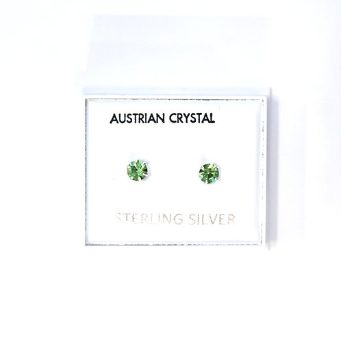 Crystal Studs - Green (Small)