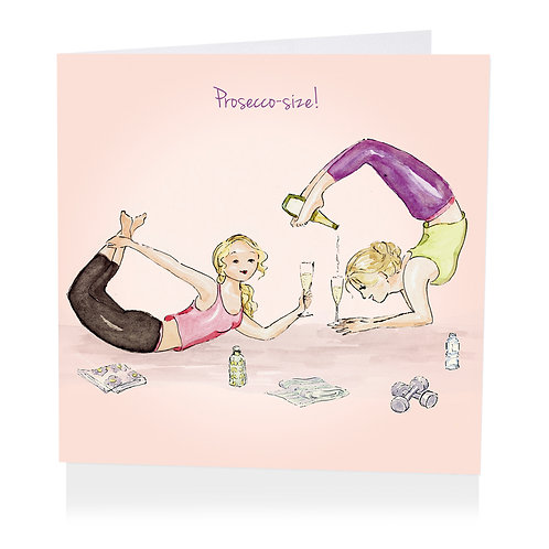 Proseccosize Greeting Card