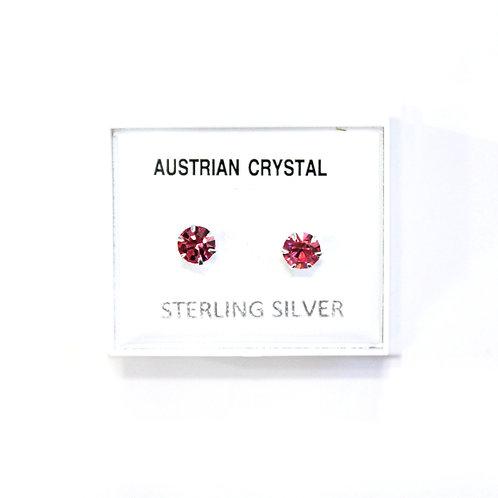 Crystal Studs - Pink