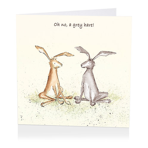 Grey Hare Greeting Card