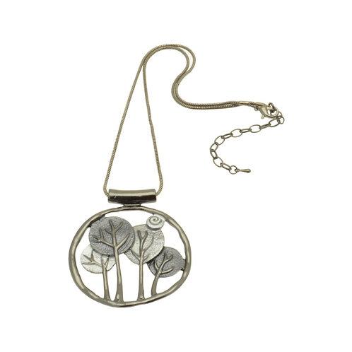 Grey Tree Necklace