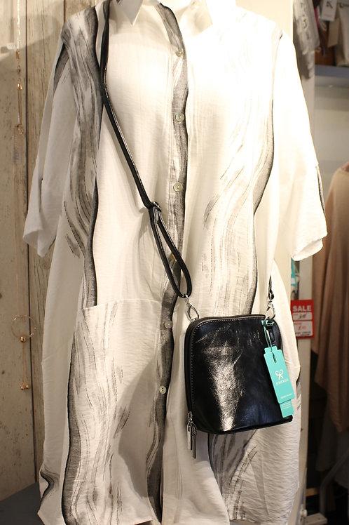 Button-Down Paint Stripe Dress - White