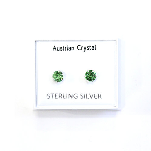 Crystal Studs - Green