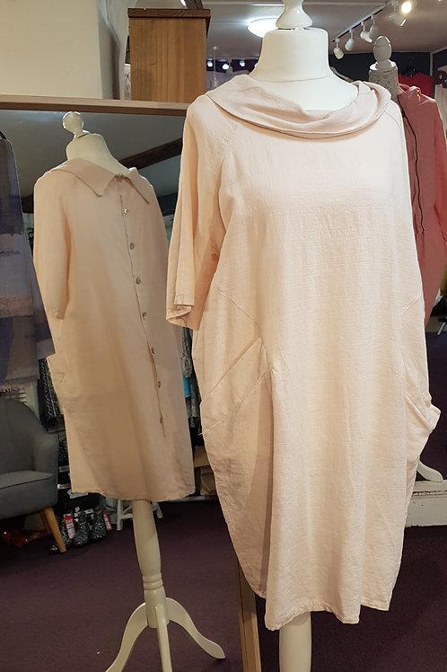 Back Button Shirt Dress