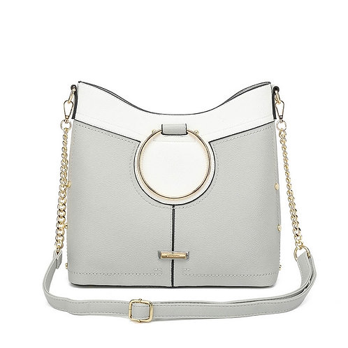 Kiss Kerry Grey Circle Bucket Bag