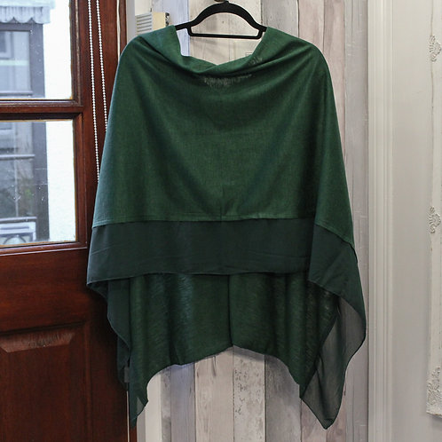 Poncho - Forest Green