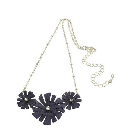 Navy Daisy Necklace