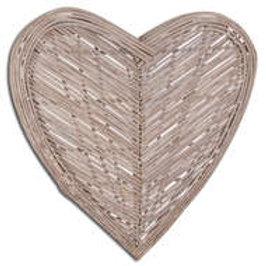 Large Wicker Wall Heart