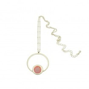 Miss Milly Circle Necklace - Pink