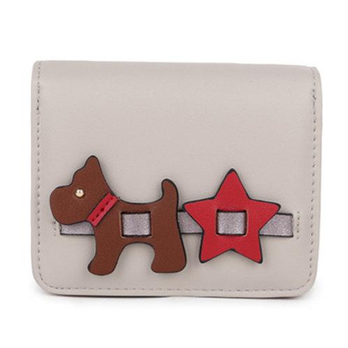 Small Scotty Dog Purse - Grey