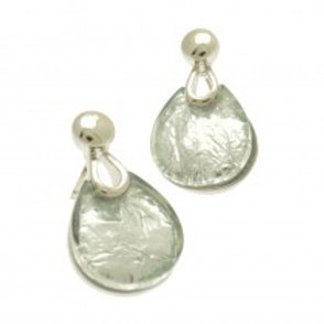 Miss Milly Teardrop Earrings - Silver