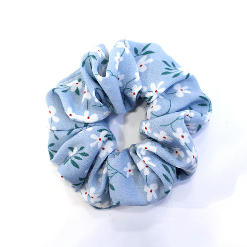 Floral Scrunchie - Blue