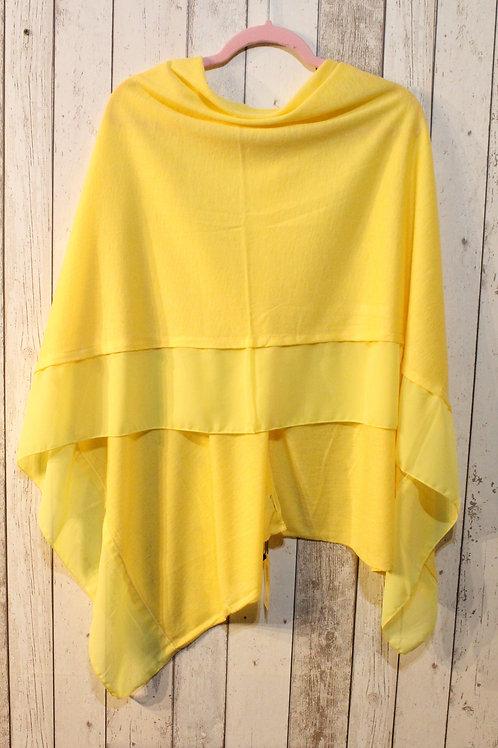 Poncho - Pastel Yellow