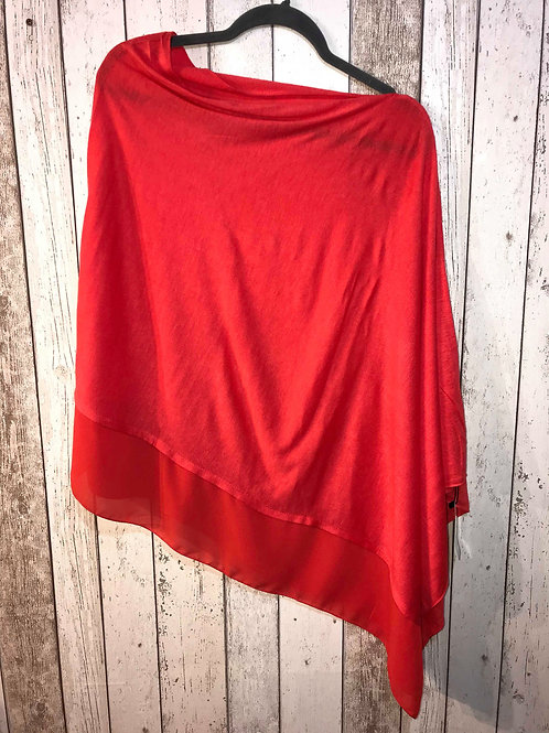 Poncho - Bright Red