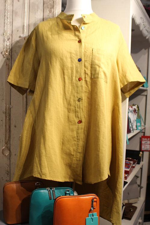Multi Button-Down Tunic -Mustard