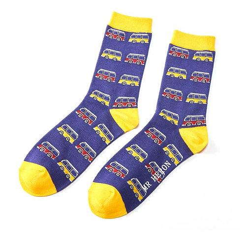 Men's Campervan Bamboo Socks