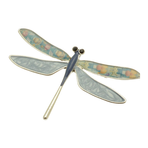Blue Dragonfly Brooch