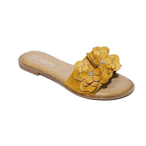 Keski Mustard Flower Sandal