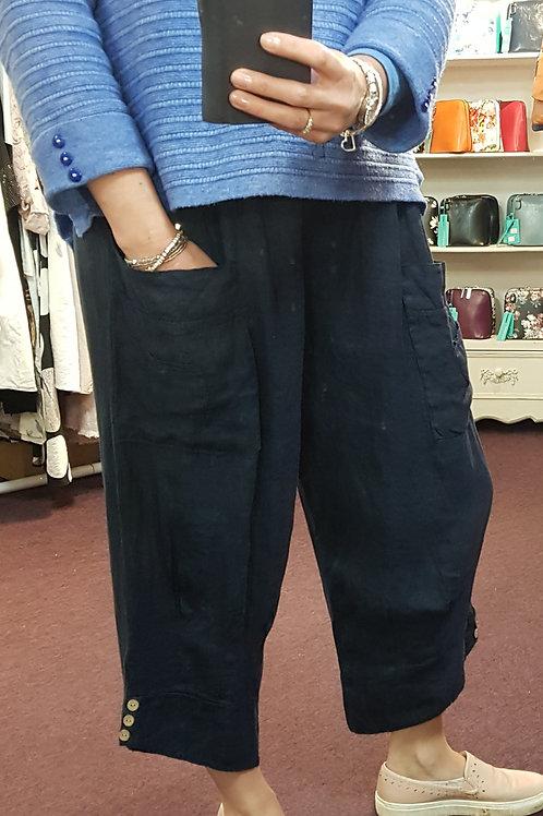 3/4 Linen Trouser