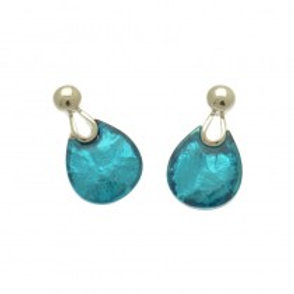 Miss Milly Teardrop Earrings - Blue
