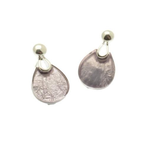 Lilac Teardrop Earrings