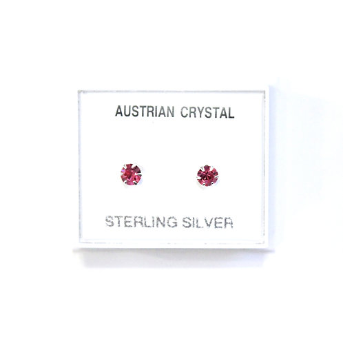 Crystal Studs - Pink (Small)