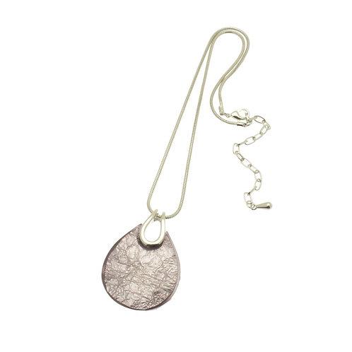 Lilac Teardrop Necklace