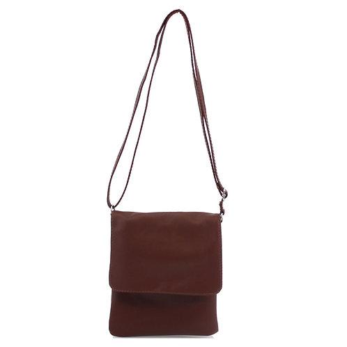 Italian Leather Handbag - Coffee