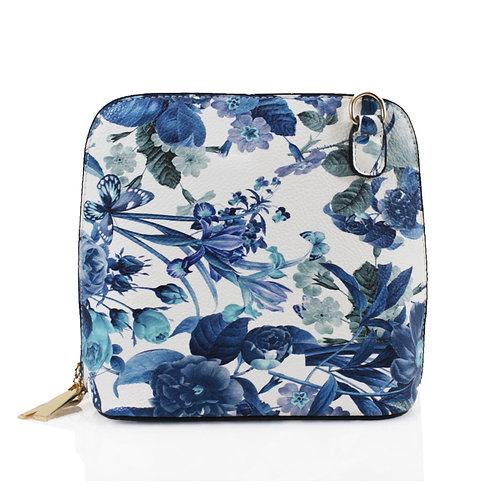 Floral Handbag - Blue