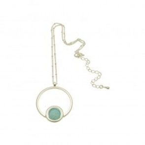 Miss Milly Circle Necklace - Mint