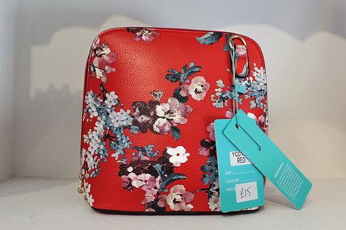 Cross-body Handbag - Red Floral