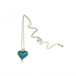Miss Milly Heart Necklace - Blue