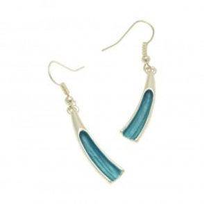 Miss Milly Scoop Earrings - Aqua