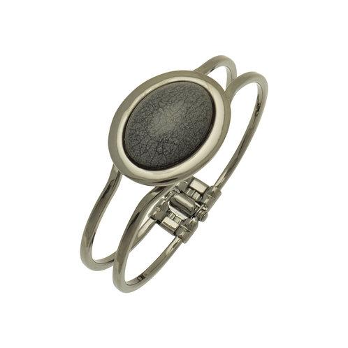 Grey Marble Resin Bracelet