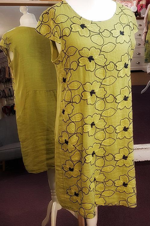 Italian Dress - Floral and Diamante Stitch