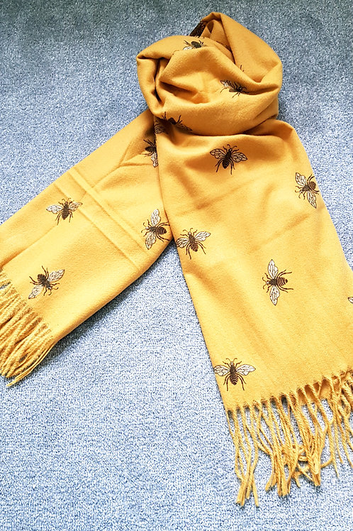 Cashmere blend Bee Scarf