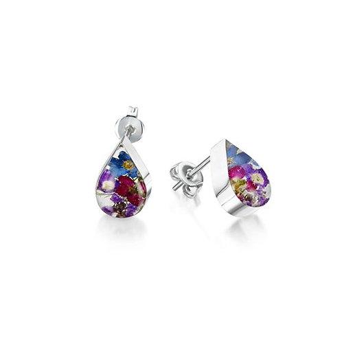 Purple Haze Teardrop Stud Earrings