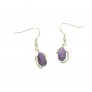 Miss Milly Pebble Earrings - Purple