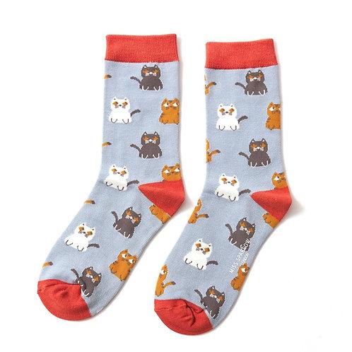 Cat Bamboo Socks