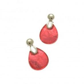 Miss Milly Teardrop Earrings - Pink