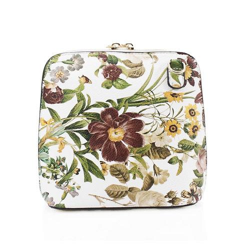 Floral Handbag - Khaki
