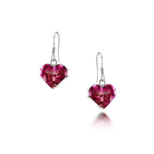 Heather Heart Drop Earrings